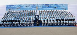 Group photo on occasion of presentation of Presidents Standards to 220 Squadron and 32 Squadron