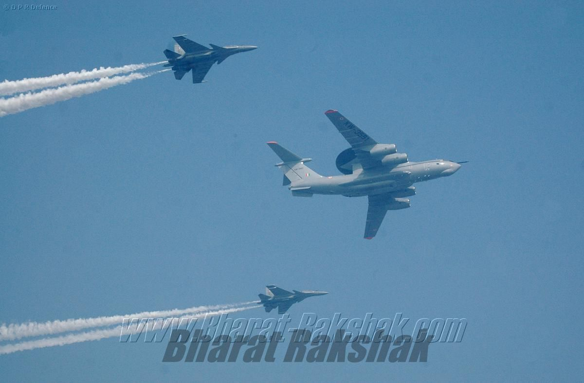 Il-78 AWACS during RD Flypast