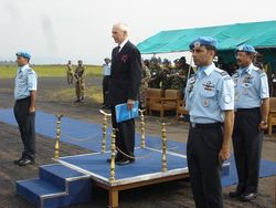 Medal ceremony of the United Nations in Bukavu