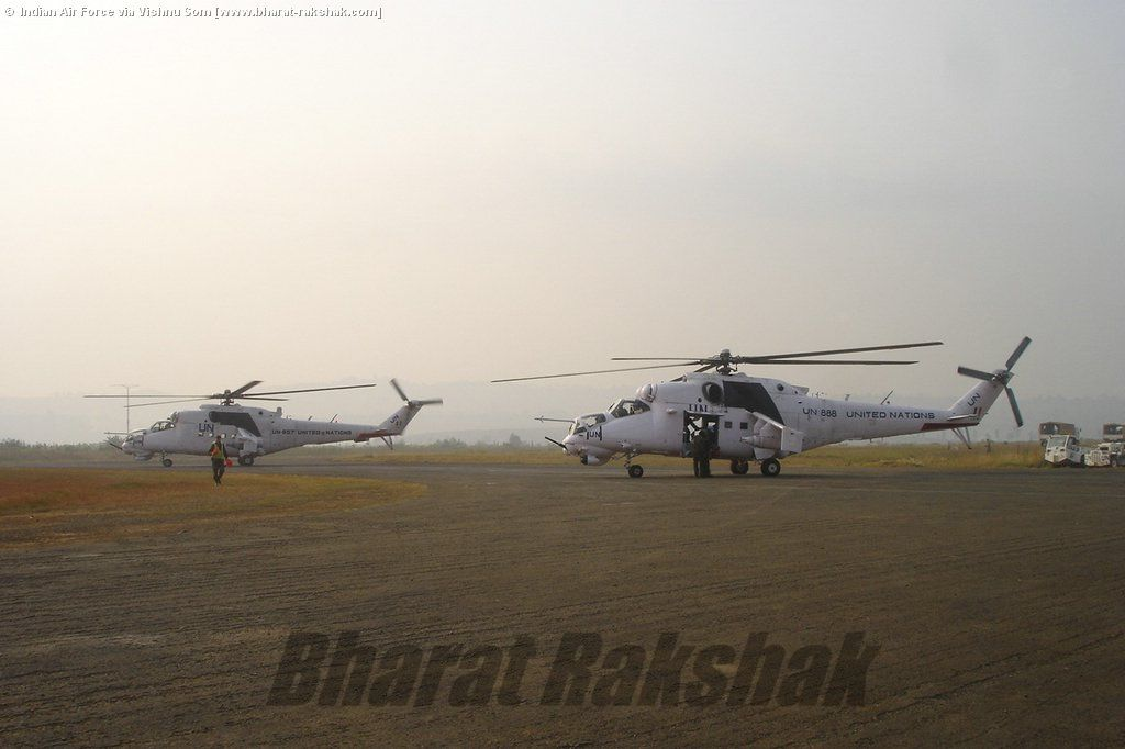 Mi-35s ready to go on a mission