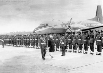 Inspection of HS-748 at Palam by Pandit Nehru, Nov 1961