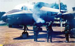 Fumigating an HS-748
