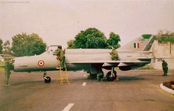 Maintenance on a MiG-21bis