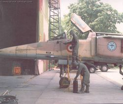 MiG-27 being cleaned up