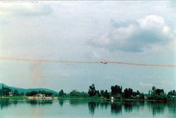 Crossover manuever over Dal Lake