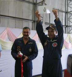 Air Marshal A K Singh releases a brochure