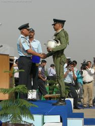 Wg Cdr S K Talyan hands over the Form 700