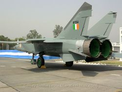 MiG-25R [KP354] seen parked on the tarmac