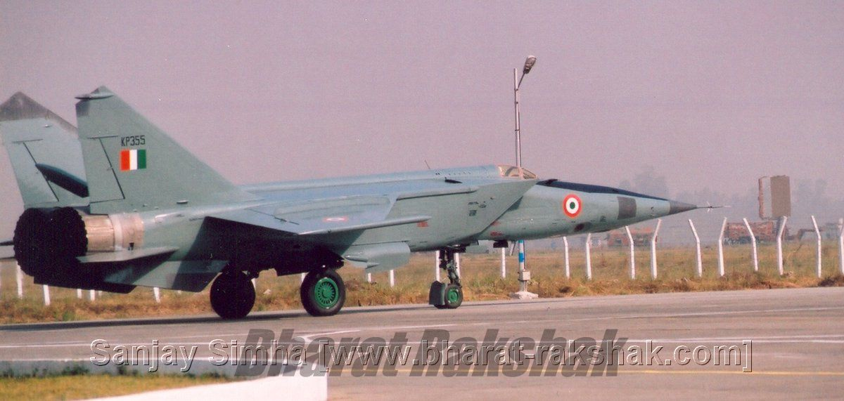 MiG-25 [KP355] of No.35 Squadron during the Phasing out ceremony