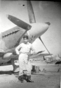 Airman with a Spitfire XIV