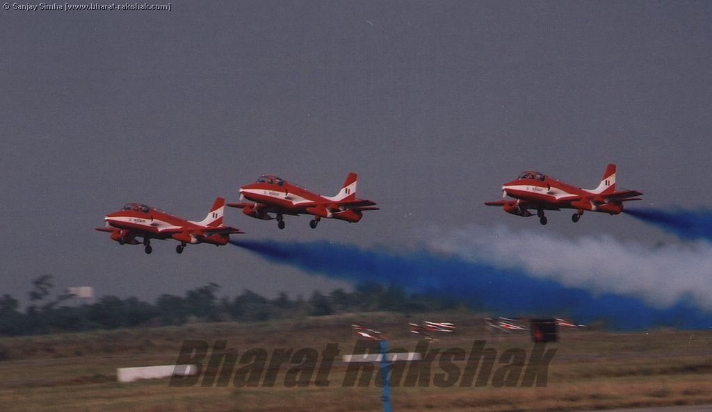 Formation takeoff of the Suryakirans