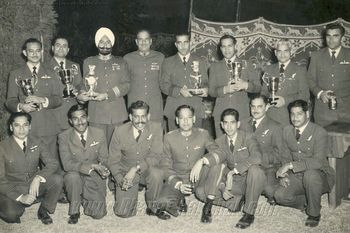 Trophy Winners of the First Armament Meet of Operational Command