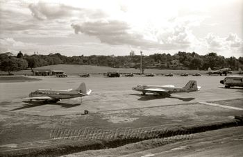 IAF Vampire Line Up at Changi