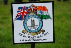 The RAF Waddington Logo of Exercise Indradhanush