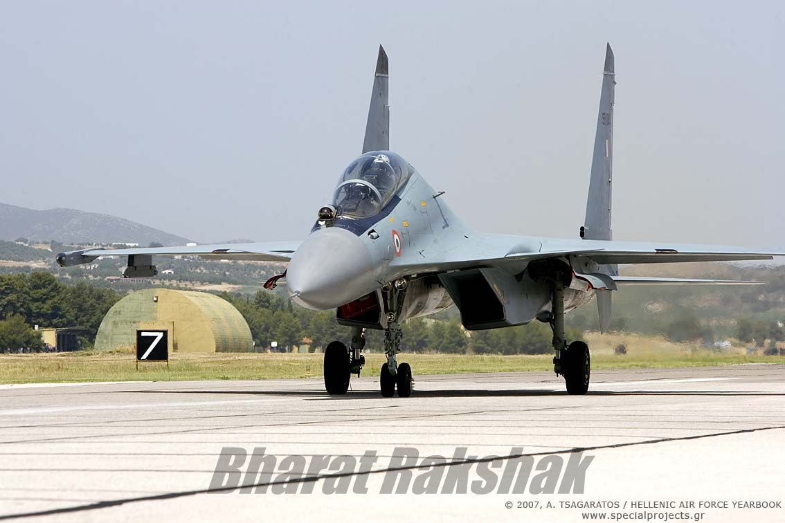 Sukhoi taxying on the ground at Tanagra