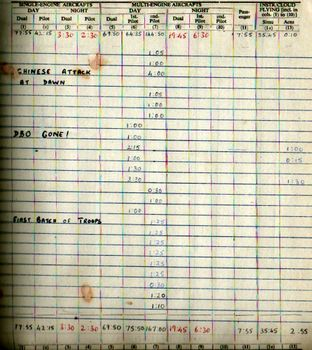 Log Book - October 1962 - Wg Cdr J Thomas