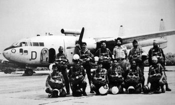 Paratrooper Training School, Agra - PJIs with Packet aircraft