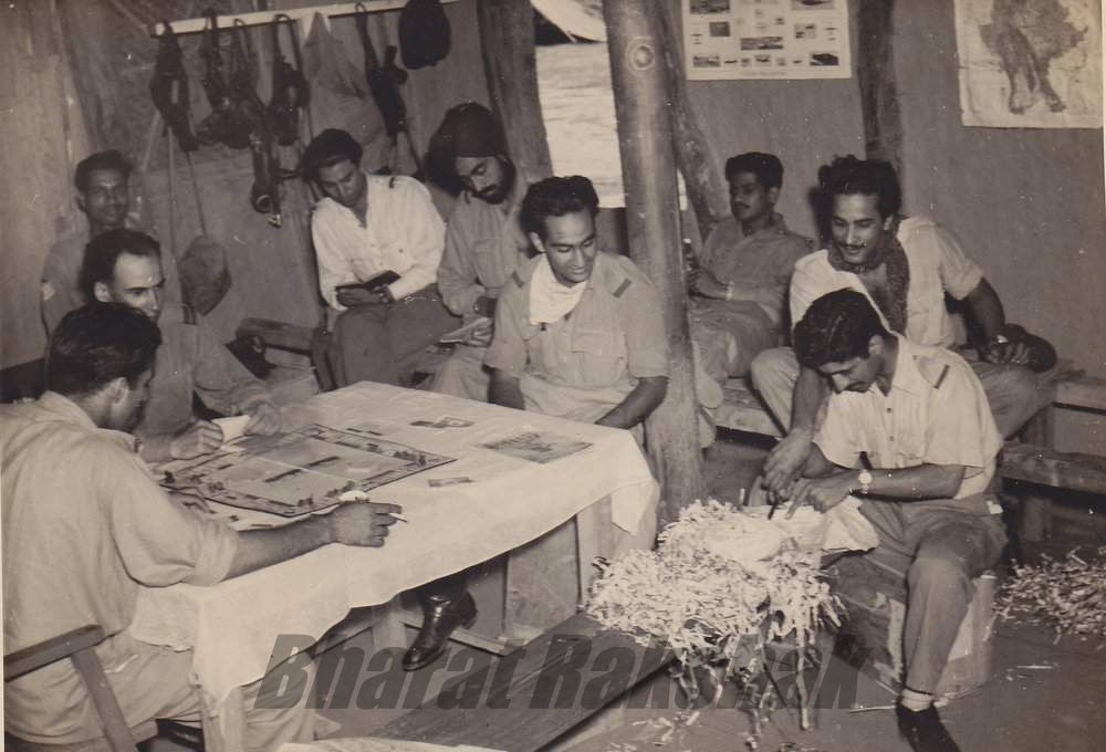 Crew Room at Imphal – Circa 1944. 'B' Flight
