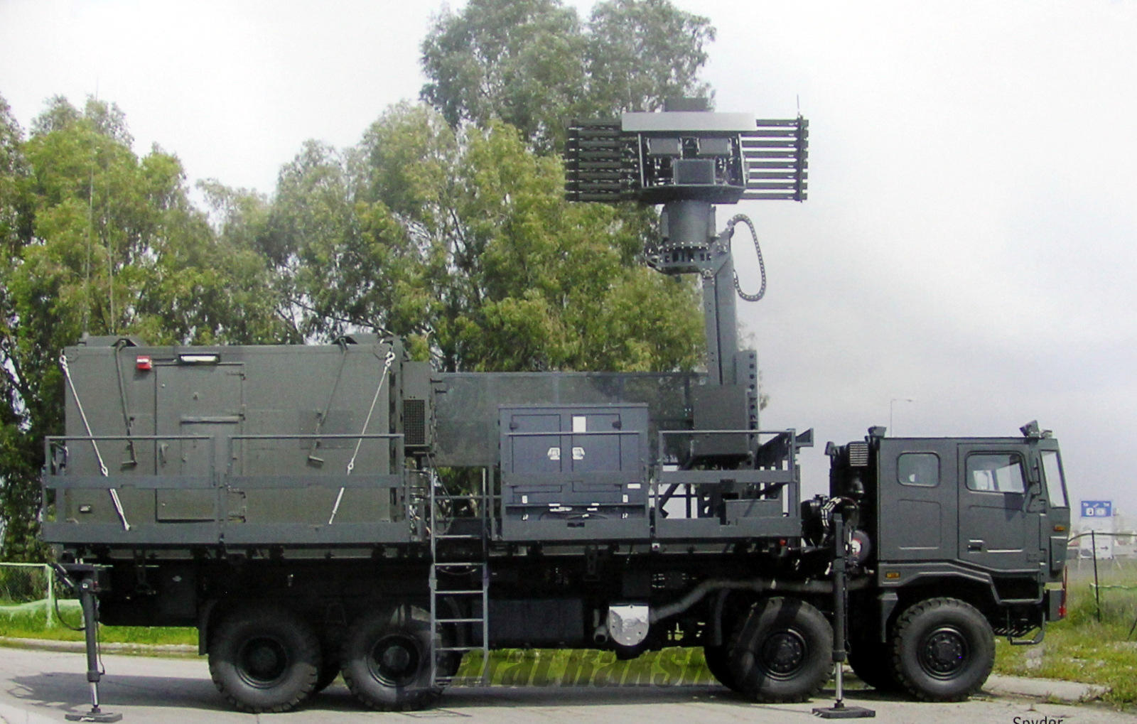 Indian Air Force SPYDER missile system radar support vehicle