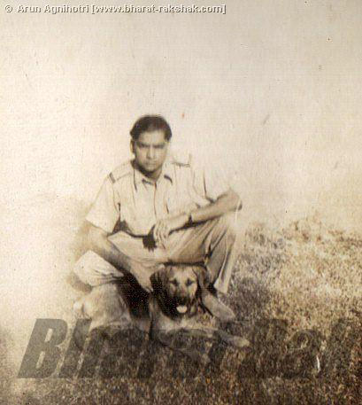 Unidentfied Pilot with Dog, possibly Kohat