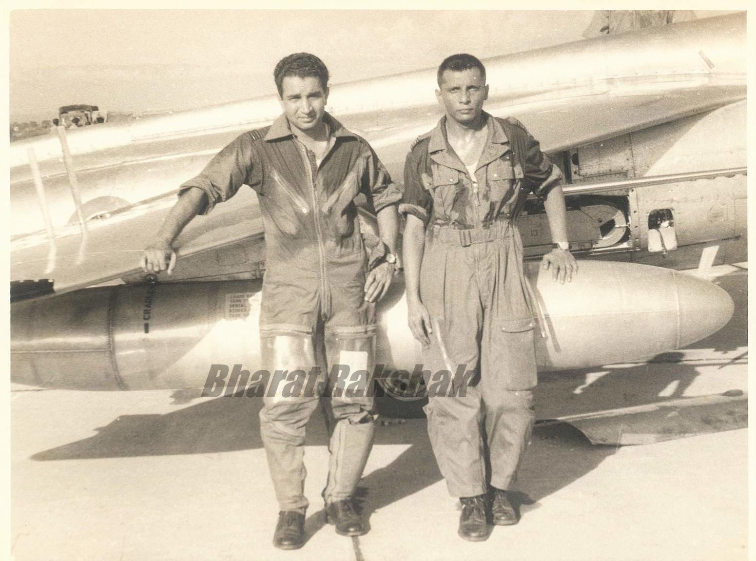 Sqn Ldr Trevor Keelor and Flt Lt V S Pathania - the original