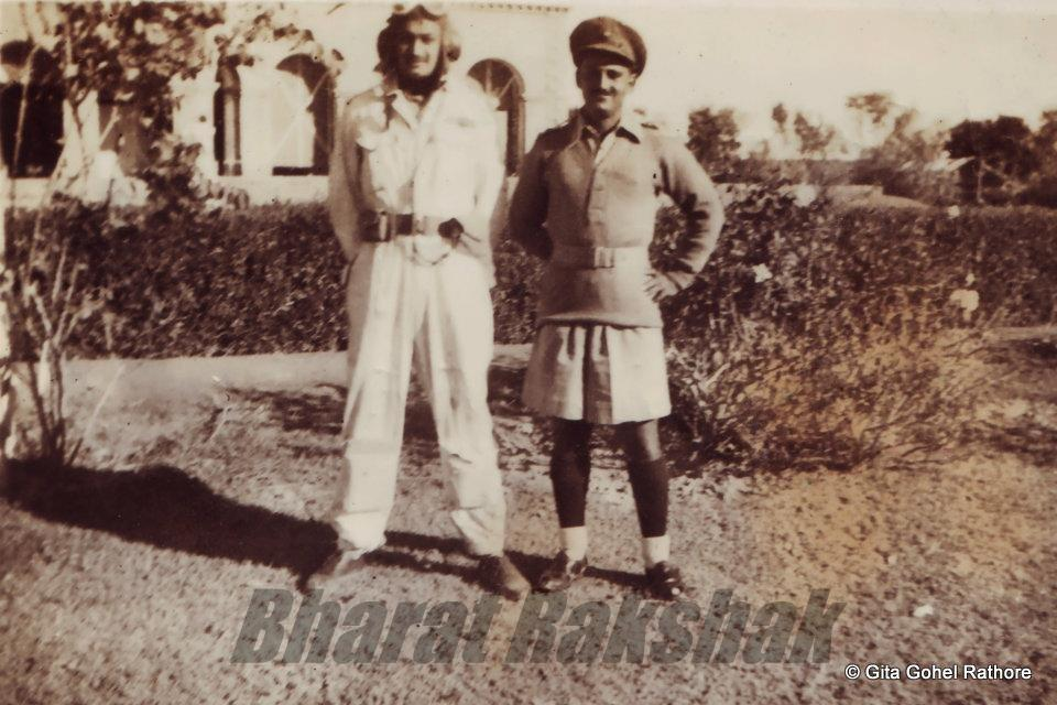 With M K Janjua - No.4 Squadron - 1942