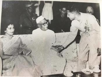 Meeting the President - Shri Rajendra Prasad