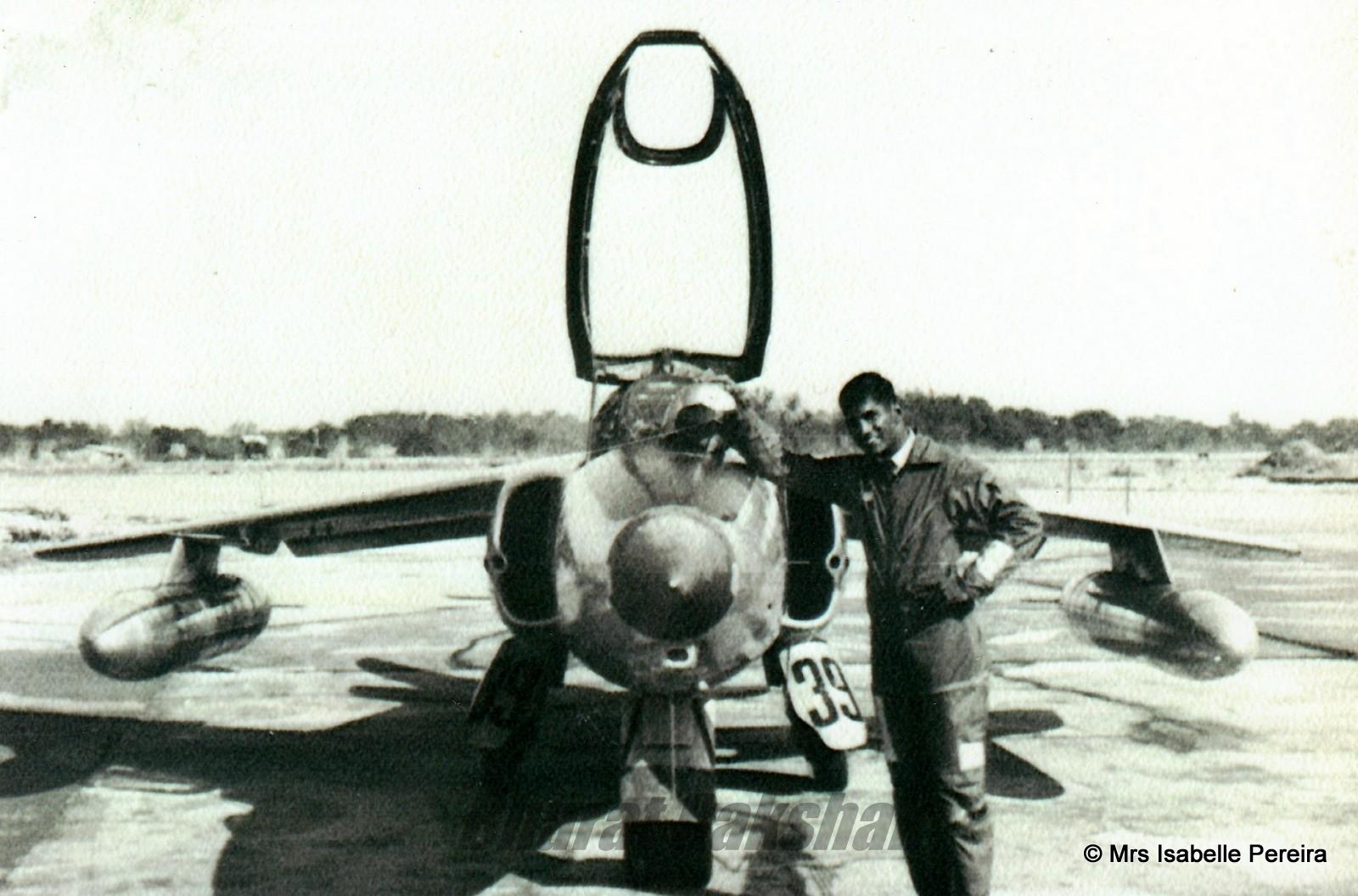 Lawrie with his beloved Gnat.
