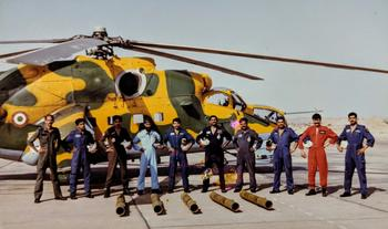 No.104 Heli Squadron after their first Shturm test firing exercise