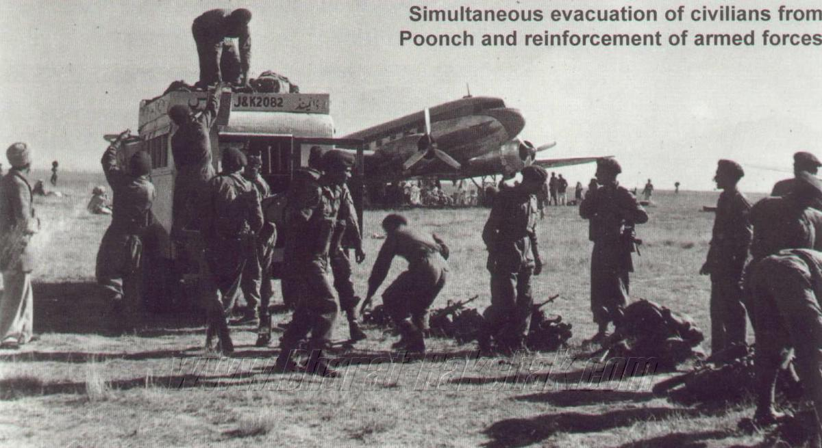 Troops at Srinagar Airfield