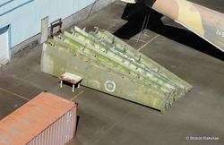 Set of eight outer wings at hangar