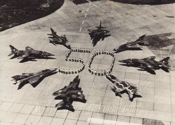 Aircraft display for the IAF Golden Jubilee (1982)