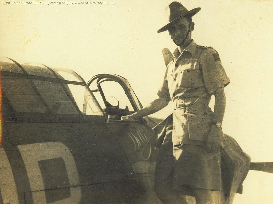 Army Officer with Hurricane