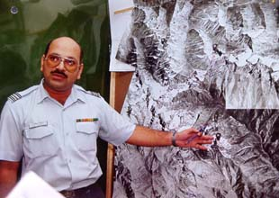 Sqn Ldr Shaji Jacob of the Photo Interpretation Cell
