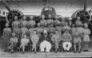 Indian Airmen with a Bristol Blenheim at Aircraft Depot Drigh Road
