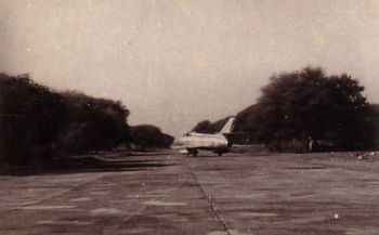 Mystere taxiing on the airfield