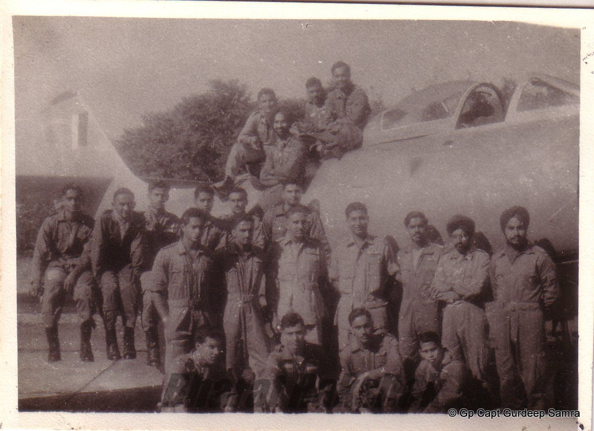 Squadron pilots with CO, Sqn Ldr O N Wadhawan