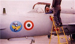Air Chief Marshal Krishnaswamy in the cockpit of a MiG-21 of the Cobras