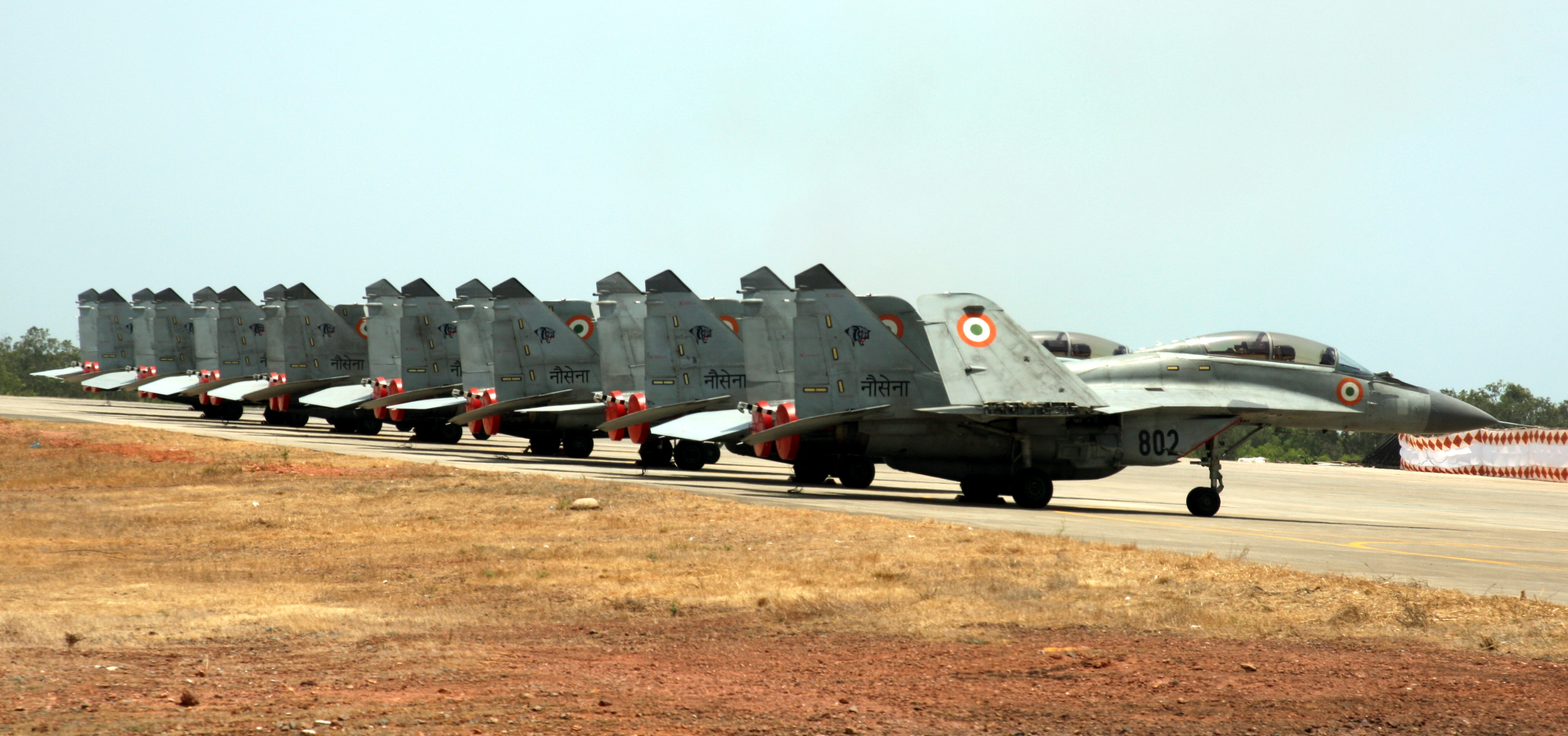 Line up of MiGs