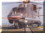 A mean-looking HAL Dhruv [IN-901] aboard INS Ganga during sea trials in 1997. Image © MoD Annual Report, 1997-98 via Titash Sridharan.