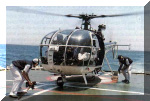 A HAL Chetak [CG815] getting ready to take-off from ship. Image © Indian Coast Guard