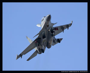 Su-30MKI turns right base for Rwy 21R