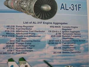 AL-31F engine components