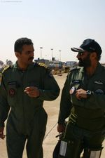 Cdr Maolankar (Navy) and Gp Capt AP Singh of Tejas Test Flight Team
