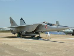 Two-Seater MiG-25 on the ground