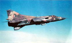 Four MiG23MFs in flight