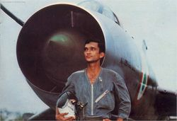 A young pilot with his Sukhoi - Then Flying Officer Mark McKenzie