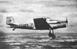 The prototype of the HT-2 in flight.