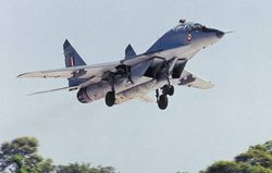 MiG-29 trainer returns home