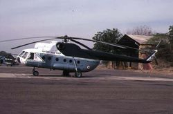 A Mi-8 (Z2388) from the Indian AFs VIP unit, at a desert station